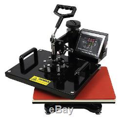 12''X15''6in1 Heat Press Machine Digital Transfer Sublimation T-Shirt Swing Away