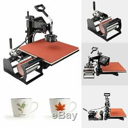15x15 5in 1 Heat Press Machine Digital Transfer Sublimation T-Shirt Mug Hat US