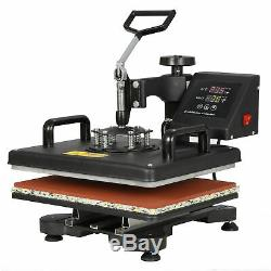 5in1 Heat Press Machine Digital Dual LCD controller Sublimation Transfer 12x15