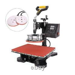 8 in 1 Power Press Digital Sublimation Heat Press Machine for Hat Plate 12x15'