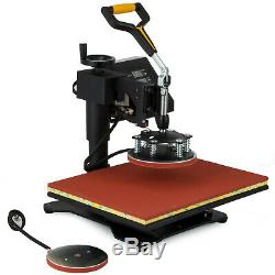New 5in1 Digital 15X12 Heat Press Machine Transfer Sublimation T-Shirt DIY