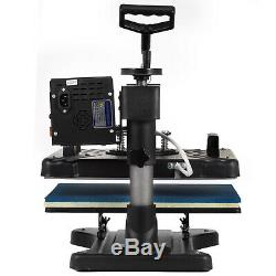 New 5in1 Digital Transfer Heat Press 15x12 Sublimation Machine T-Shirt Hat Mug